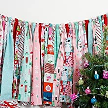 finished garland, festive, christmas, no sew, project, diy, fabric