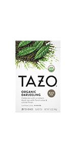 TAZO Organic Darjeeling Tea Bags, 20 Count