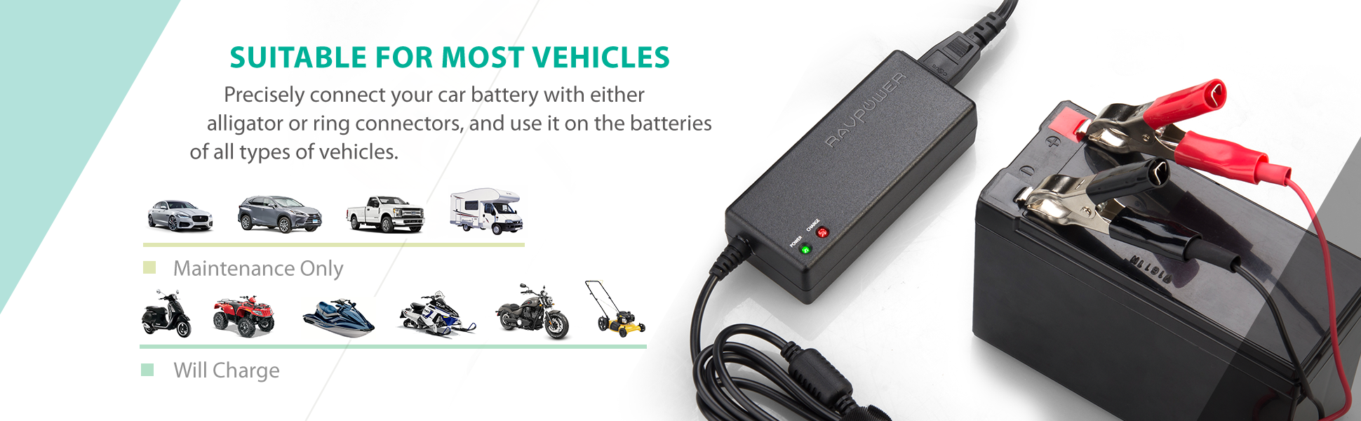 Amazon.com: Trickle Charger RAVPower Car Battery Charger