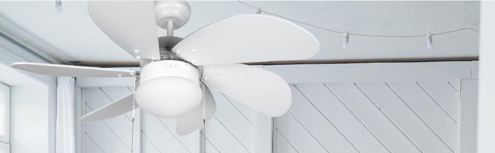 ventilador de techo, ventilador de techo blanco, ventilador de techo económico, ventilador orbegozo