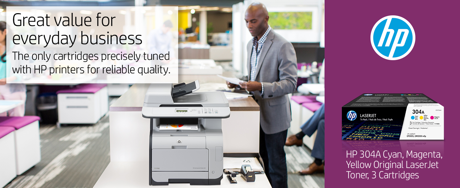 OEM NEW SEALED Genuine HP LaserJet CC532A 304A Yellow Toner Print Cartridge