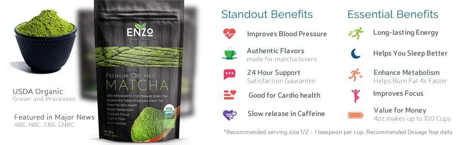 benefits of matcha green tea by enzo