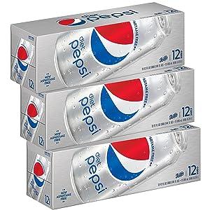 amazon com diet pepsi soda fridge pack bundle 12 fl oz 36 cans
