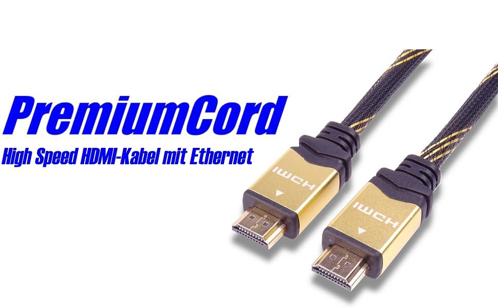 Premiumcord Gold 4k High Speed Hdmi Ethernet Kabel Computer Zubehör