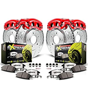 brakes and calipers, performance brake kit with calipers, front and rear brakes