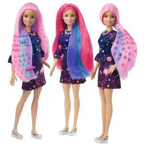 Barbie cheveux change couleur