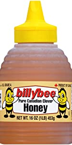Billy Bee Pure Canadian Clover Honey, 16 oz