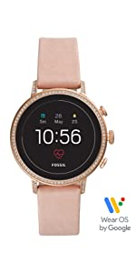 Amazon.com: Fossil Womens Sport Heart Rate Metal and ...