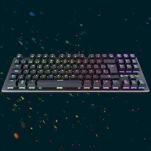 Newskill Serike TKL Switch Red - Teclado Mecánico Gaming TenKeyLess (Teclas con grabación Macro, 20 Modos de iluminación RGB, Sin Pad Numérico) - ...