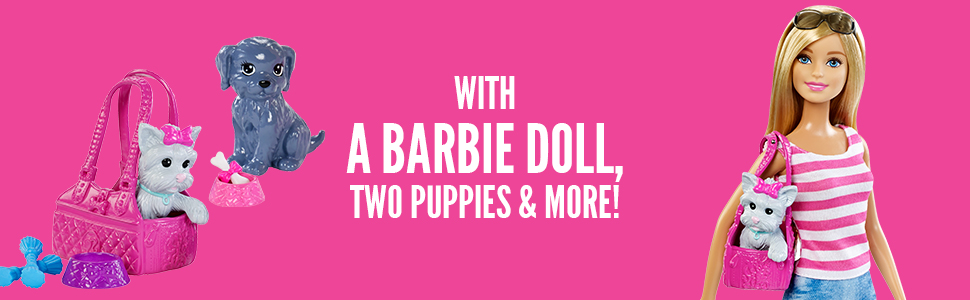 barbie, dolls, toys, girls, playsets, dollhouses, pets, dogs, cat, friendly, animal-lovers, friends