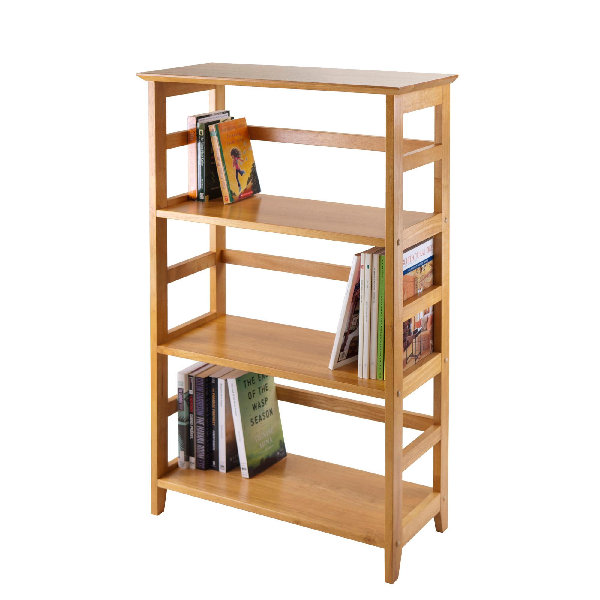 winsome wood 4 tier bookshelf honey kitchen dining