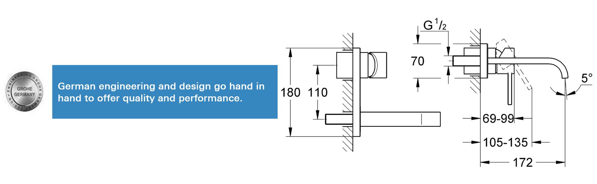 GROHE 19309000 | Allure 2-Hole Basin Mixer Tap: Amazon.co.uk: DIY ...