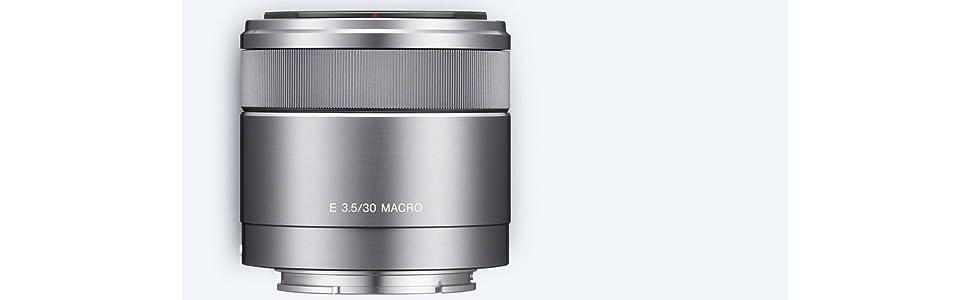 Sony Sel 30m35 Makro Objektiv Silber Kamera