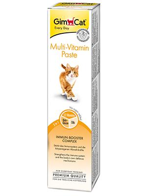 GimCat pasta multivitaminas , Aperitivo para gatos nutritivo con vitaminas, elementos reconstituyentes y fibra de origen vegetal , 1 paquete (1 x 200 g): Amazon.es: Productos para mascotas