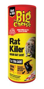 Rat /& Souris Killer Indoor /& outdoor use 4 x 20 g recharge sachets advaced Formule