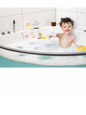 Eberhard Faber, kreda do kąpieli, łazienka, wanna, malowanie, dekorowanie, kafelki, lustro, dzieci, zabawa, kąpiel