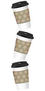 Industrial Cafe To-Go Cups Cut-Outs