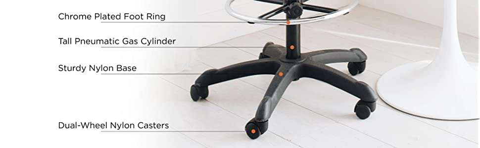 Office, Chair, Computer, Ergonomic, Cushion, Adjustable, Desk, Modern, Dual-wheel, Support, Lumbar