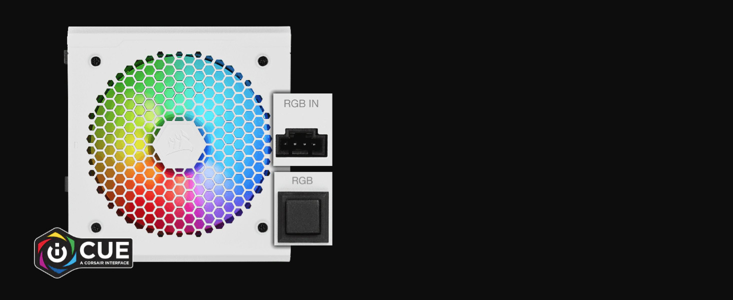 CX550F RGB — 550 Watt Fully Modular RGB PSU - White
