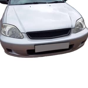DNA Motoring GRL-HC96-TR-ABS Front Bumper Grille Guard For 96-98 Honda Civic