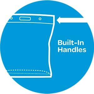 ZIPLOC. Use as imagined - BUILT-IN HANDLES