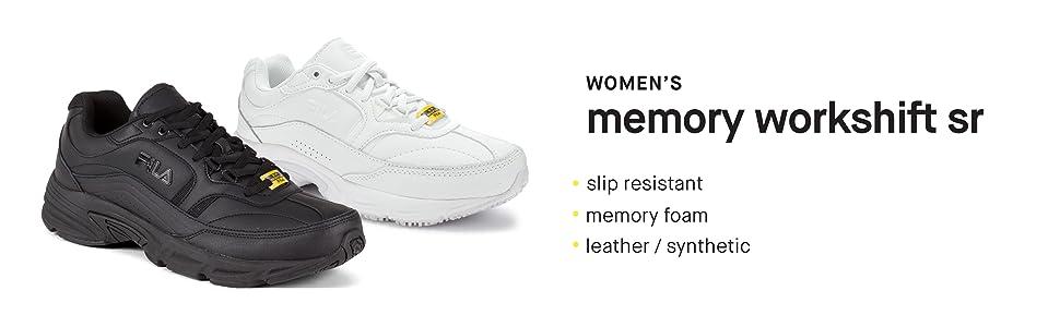 2992fe6f Fila Women's Memory Workshift Slip Resistant Work Shoe