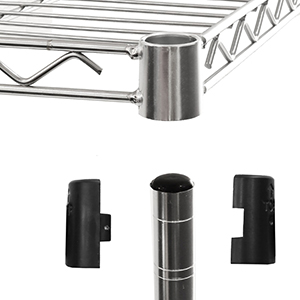 Amazon Com Seville Classics Ultradurable Commercial Grade Steel Shelving Poles 72 H X 1 Diameter Chrome Set Of 2 Home Kitchen