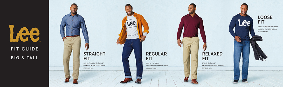 Lee Men's Big & Tall Fit Guide