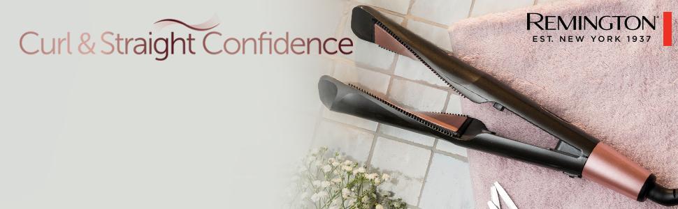 Remington S6606 Fer à Lisser, Fer à Boucler, Lisseur, Boucleur Curl&Straight Confidence, Céramique Avancée, Tourmaline, Antistatique