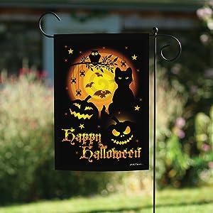 Amazon Com Toland Home Garden Scary Halloween 12 5 X 18 Inch Decorative Spooky Cat Pumpkin Garden Flag 1110561 Garden Outdoor