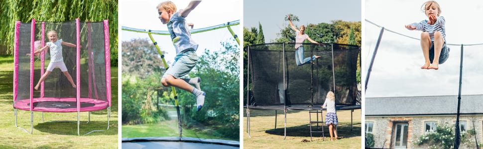 trampoline, junior trampoline, blue trampoline, pink trampoline, small trampoline, junior, child