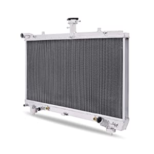 TJ Replacement for Jeep Wrangler MT Full Aluminum 2-Row Racing Radiator Manual Transmission