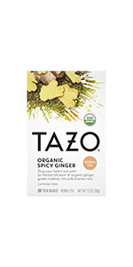TAZO Organic Spicy Ginger Tea Bags, 20 Count