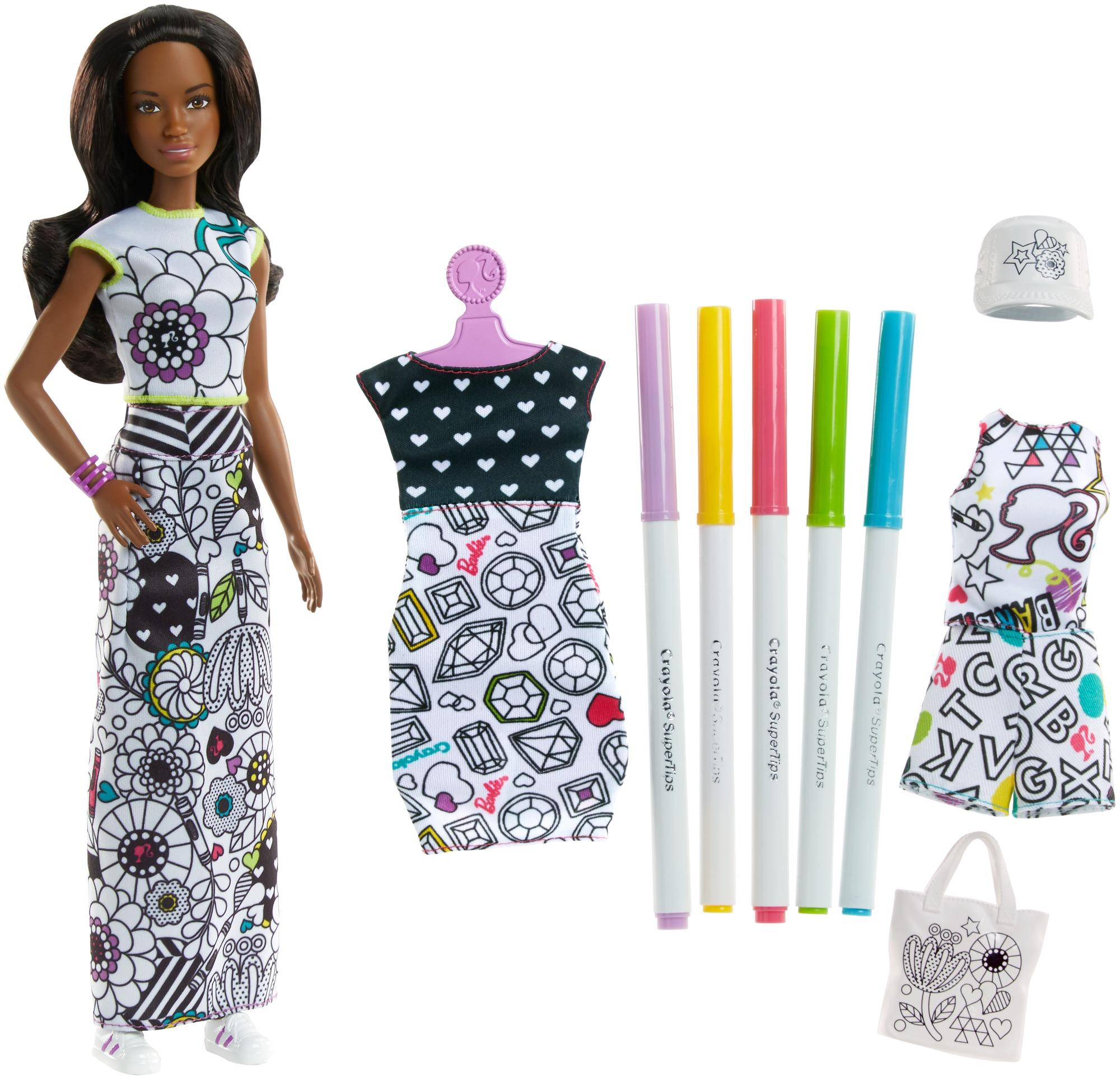 Barbie Crayola Color In Fashions Brunette Toys Games