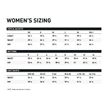 Women's Sizing Charts