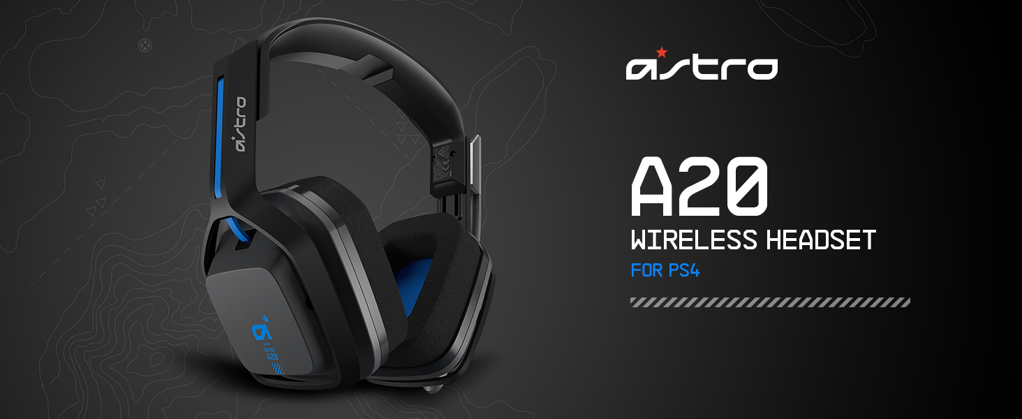 Amazon com: ASTRO Gaming A20 Wireless Headset, Black/Blue