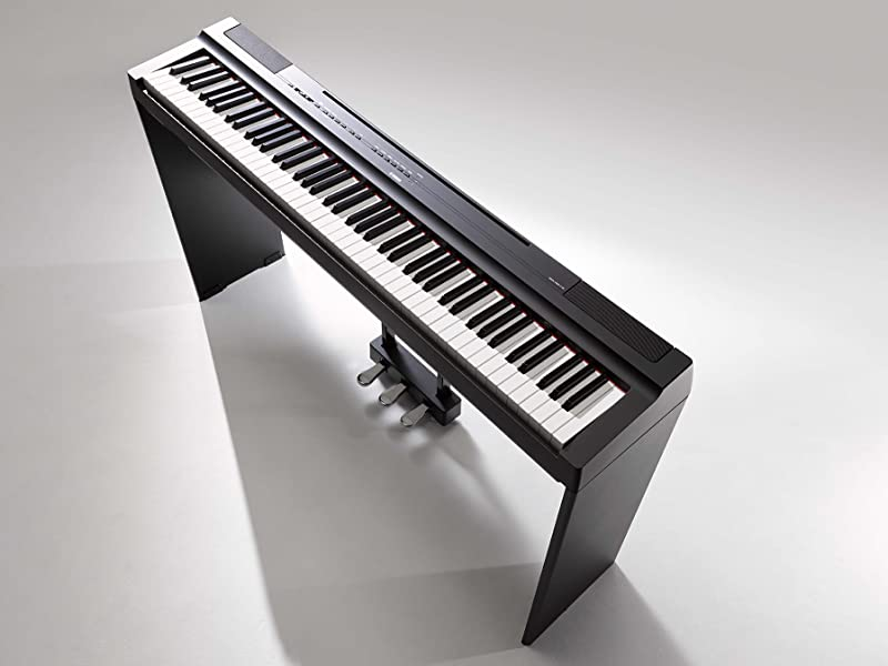 Yamaha P125 88 Key Weighted Action Digital Piano With Power Supply And Sustain Pedal Black