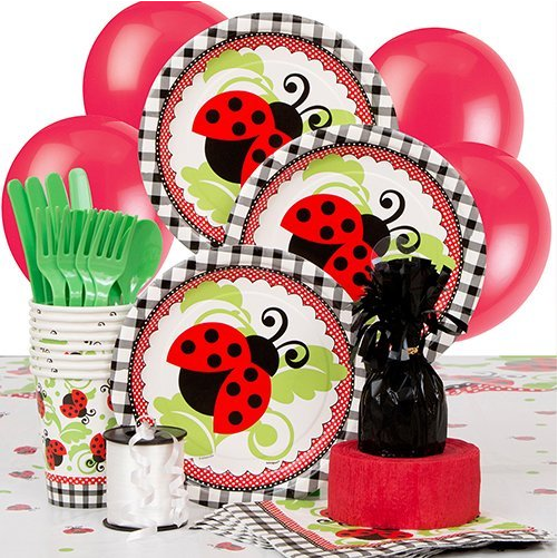 Deluxe Ladybug Party Supplies Kit for 8 · Ladybug Party Supplies Kit for 8 · Ladybug Dinner Plates 8ct · Ladybug Dessert Plates 8ct ...  sc 1 st  Amazon.com & Amazon.com: Ladybug Dinner Plates 8ct: Kitchen \u0026 Dining