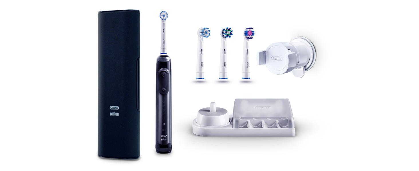 Oral-B Genius 10000N Sensi Ultrathin - Cepillo Eléctrico, 1 Negro Mango Conectado, 6 Modos Blanqueado, Sensible, Encías, 4 Cabezales, Funda de Viaje ...