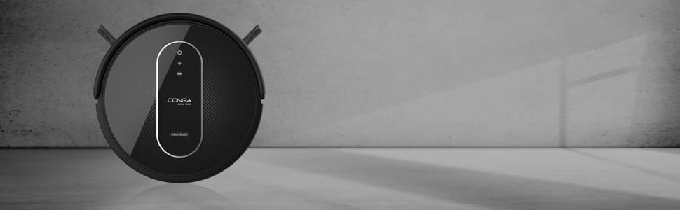 Cecotec Conga Serie 1390 Robot Aspirador 4 En 1, Navegación Inteligente Y Ordenada Itech Gyro, 7 Modos De Limpieza Con Muro Magnético, 3 Niveles De Fregado, 45 W, <64 dB, Plástico, Negro: Amazon.es: Hogar