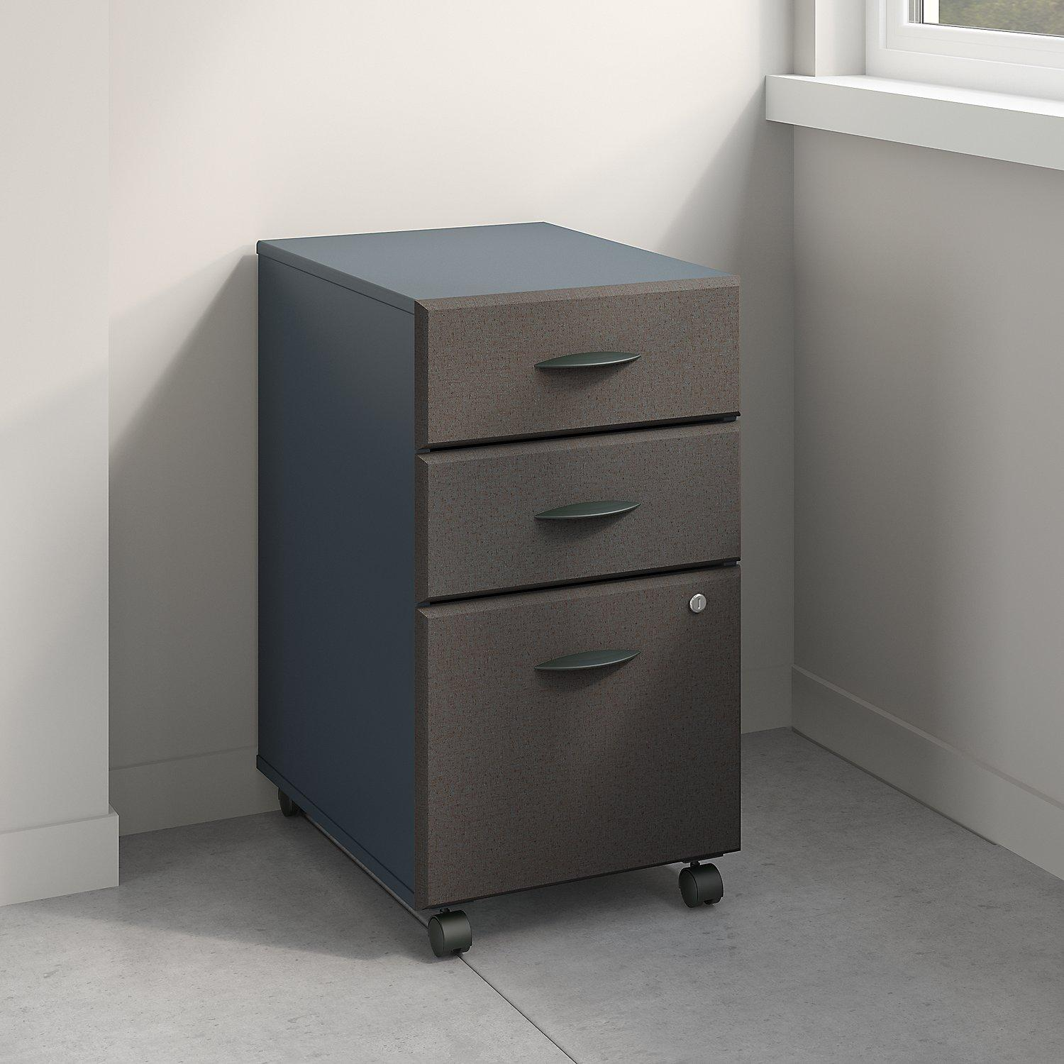 Amazon series a unassembled three drawer mobile file