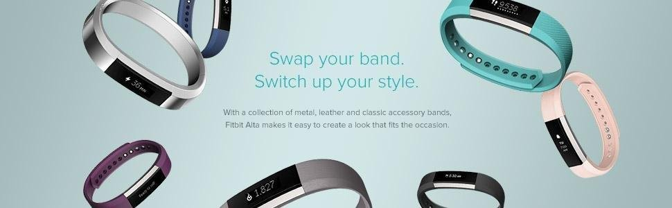 Fitbit, Alta, fitness tracker, exercise band, step tracker, workout, accessories