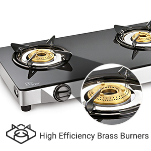 Sunflame Crown Stainless Steel 2 Burner Gas Stove, Silver