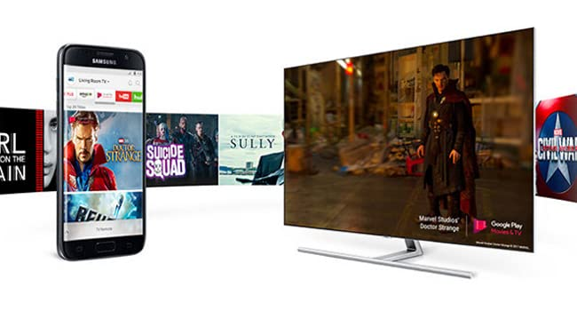 The Smart View app allows you to control your TV's smart menu and streaming services from your phone