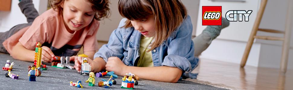 LEGO City Town - Pack de Minifiguras: Feria Juguete de construcción con Divertidos Personajes para Jugar, Novedad 2019 (60234): Amazon.es: Juguetes y juegos