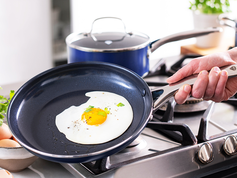 Blue Diamond, Ceramic Nonstick cookware, frying pan, cookware set, toxin free, durable, tough, pfas
