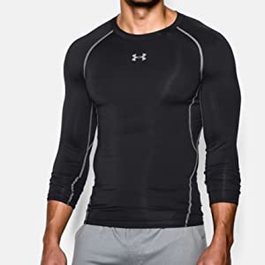 ba0d9100 Under Armour Men's Compression Shirt UA HeatGear Armour, Long-Sleeve ...