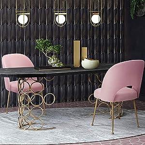 Amazoncom Tov Furniture Tov D61 Swell Modern Upholstered Dining