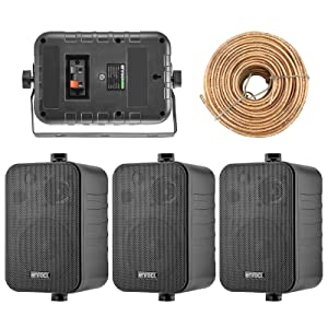 """Box Speakers, 4"""" Speakers, Marine Speakers, Boat Speakers, Speaker Wire"""