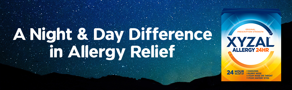 Enjoy allergy relief all day and all night.